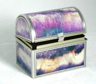 blue john printed Tin box