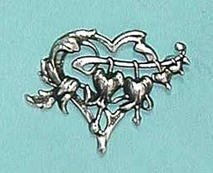 Hearts and Flowers brooch