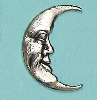 man in moon brooch