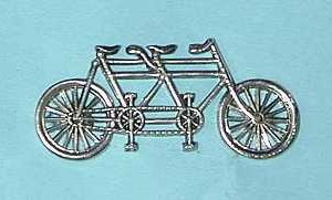 tandem bicycle brooch