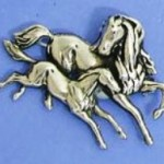 art nouveau mare and foal brooch