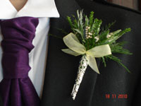 wedding flowers in posy pin