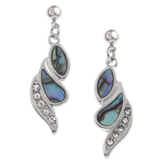 crystal and paua earrings