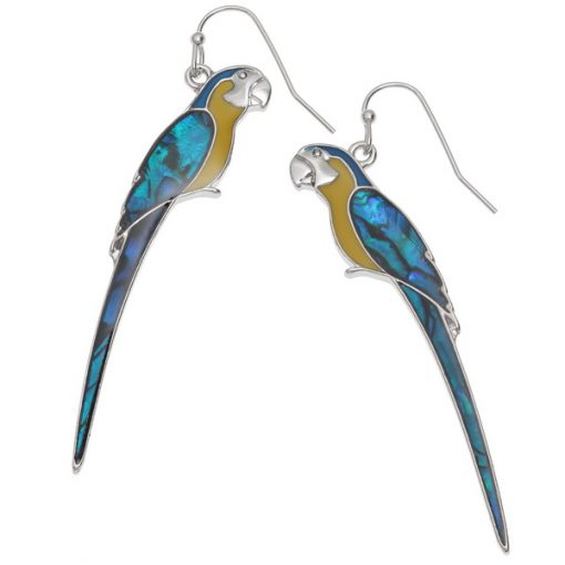 macaw drop earrings